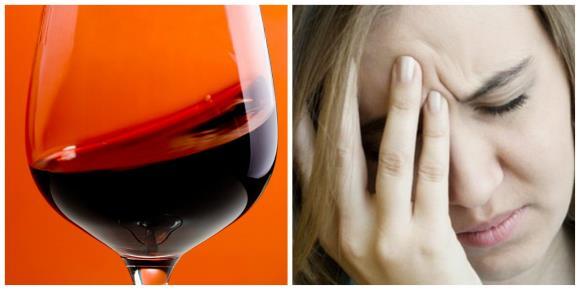 Красное вино противопоказано лицам, страдающим мигренью