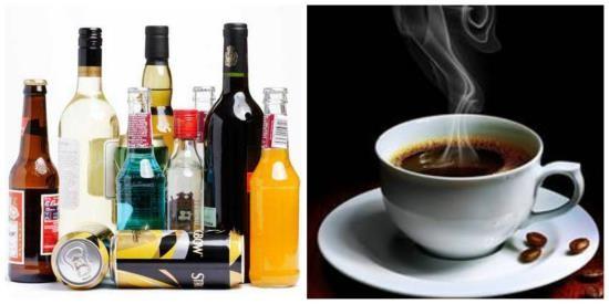 Спиртное и кофеин повышает АД и тем самыми увеличивает риск возникновения цефалгии
