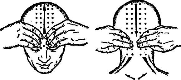 Заключительный этап массажа головы