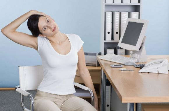 Зарядка для шеи на рабочем месте
