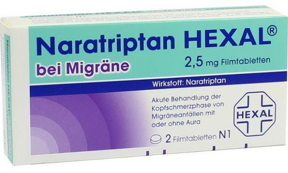 Наратриптан может быть использоваться в составе комплексной терапии мигренозного статуса