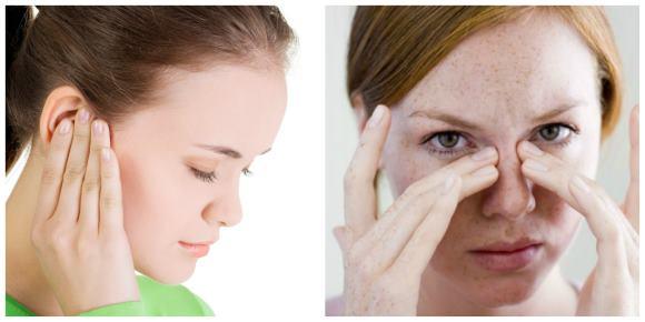 Воспаление среднего уха и верхнечелюстной пазухи