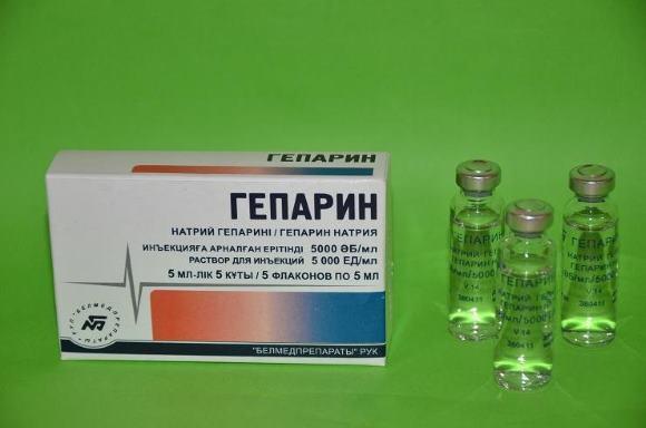 Гепарин назначают лишь исключив кровоизлияние