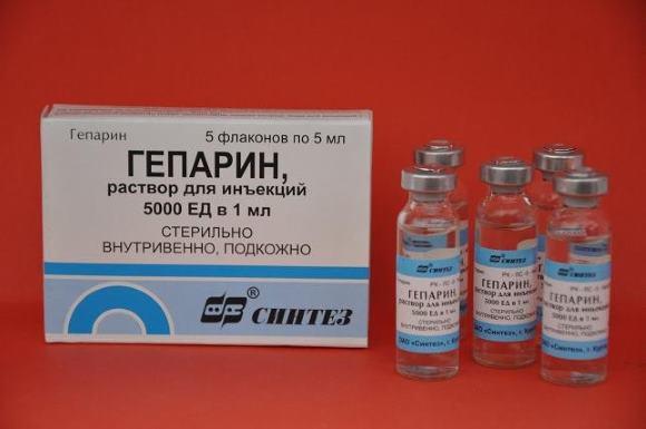Гепарин вводят в/в струйно или капельно