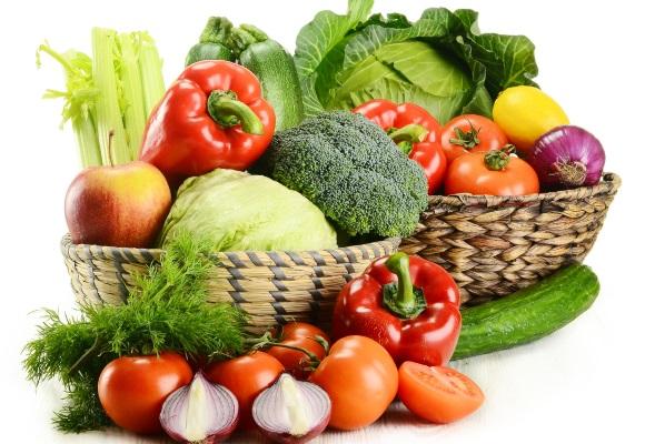 Корзины с овощами