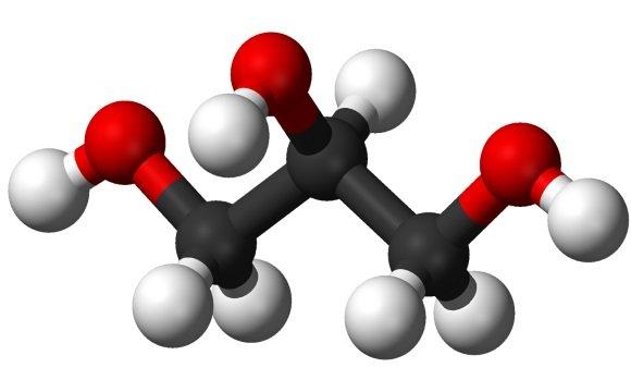 Модель молекулы глицерола
