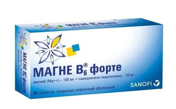 Таблетки Магне В6 форте